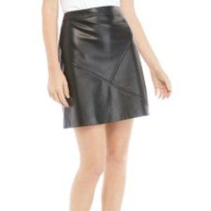 NWT - The Limited Faux Black Leather Skirt Size 12